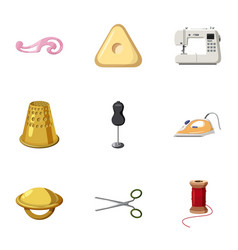 range of tools for dressmakers icons set vector image