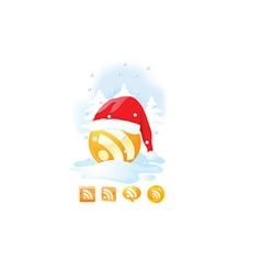 Santa wifi icon vector image vector image