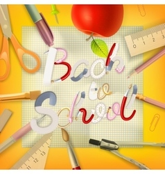 School season invitation template EPS 10 vector image vector image
