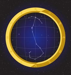 Scorpio star horoscope zodiac in fish eye vector