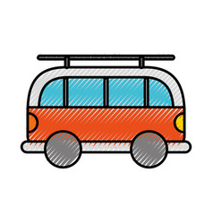 Scribble car cartoon vector