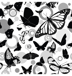 Seamless butterflies vector