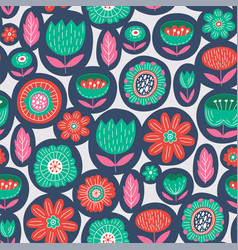 Seamless colorful floral pattern vector