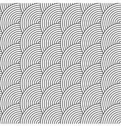 seamless pattern of circles in squama style vector image