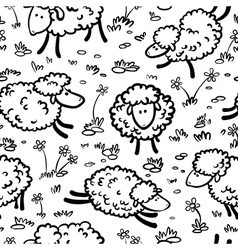 seamless with sheeps vector image vector image
