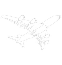 sketch of airplane bottom view vector image