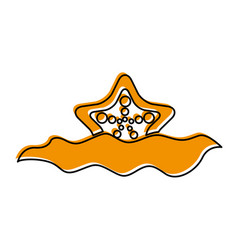 starfish in water icon vector image