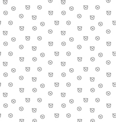 Time clock seamless pattern vector image vector image