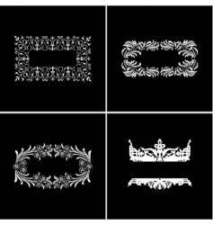vintage ornate banners vector image