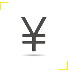 Yen sign icon vector image vector image