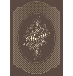menu brown vector image