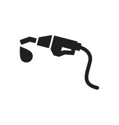 Flat icon in black and white fuel gun vector