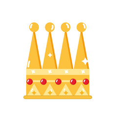 Nice crown of king to glory and pawer vector