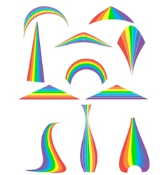 Set of 12 rainbow vector
