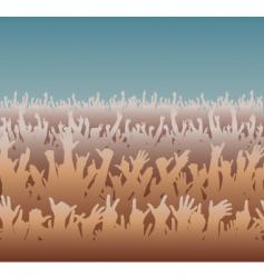 big crowd vector image