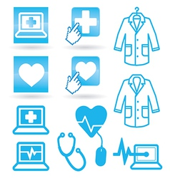 Set icons medical web vector
