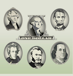 Money oval presidents vector