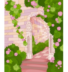 Overgrown house vector image
