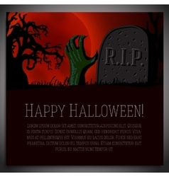 Big halloween banner - of hand going vector
