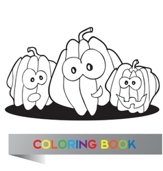 Halloween - coloring book vector