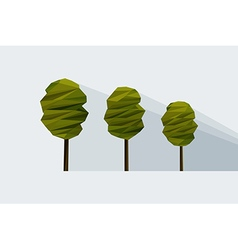 low-poly three tree vector image