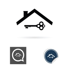 Key and roof vector
