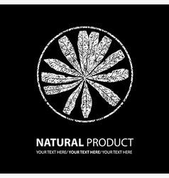 floral logo 12 grunge vector image