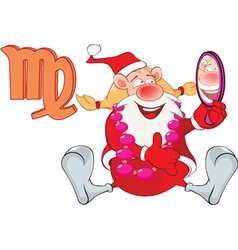 Santa claus astrological sign in zodiac virgo vector