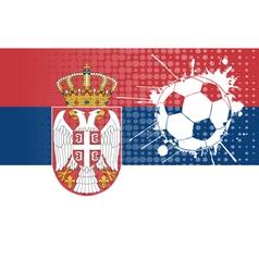 Serbian football vector image