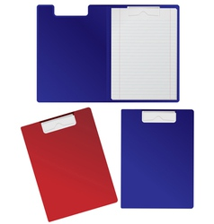 Clipboard with blank sheets isolated on white vector