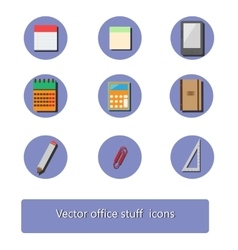 Office stuff icon set vector