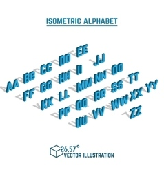 Isometric alphabet and font vector