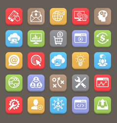 Seo and development icons for web mobile vector