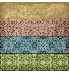 seamless retro pattern in vintage style vector image