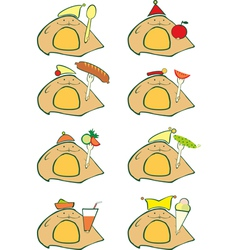 Animal Food Set vector image vector image