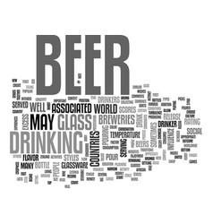 Beer culture text word cloud concept vector