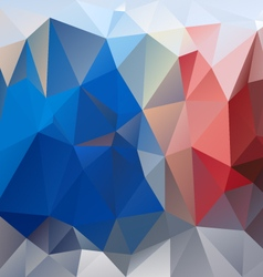 Blue red gray polygon triangular pattern vector