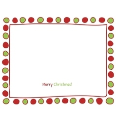 Christmas circle border vector image vector image