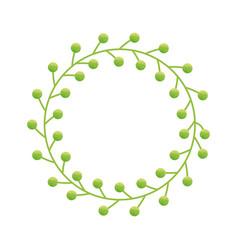 Decorative wreath icon vector