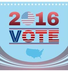 Digital vote usa election 2016 vector