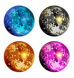 Disco ball set vector