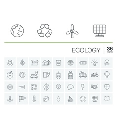 Ecology and environmental icons vector image