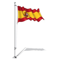 Flag pole spain vector