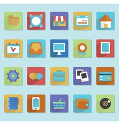 Flat icons for web design - part 1 vector image