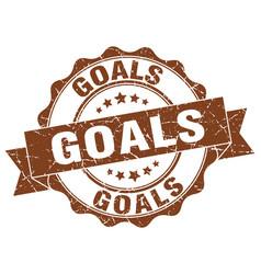 Goals stamp sign seal vector