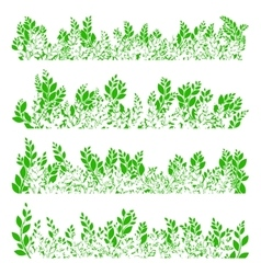 Green leaves border EPS 10 vector image