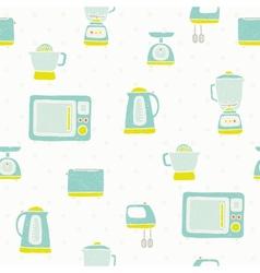 Kitchen appliances pattern vector image