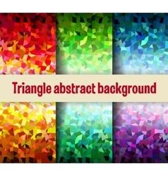 Multicolor triangular vector image vector image