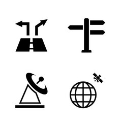 navigation simple related icons vector image vector image