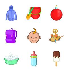 Parenthood icons set cartoon style vector